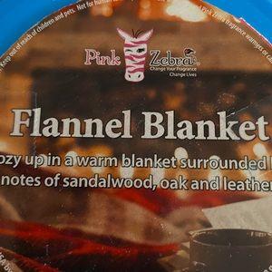 Pink Zebra Sprinkles - Flannel Blanket